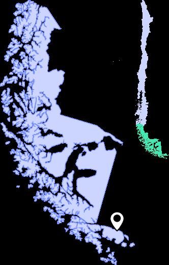 mapa puerto williams