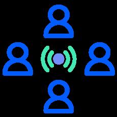 icono sobre colaboradores y comunidad