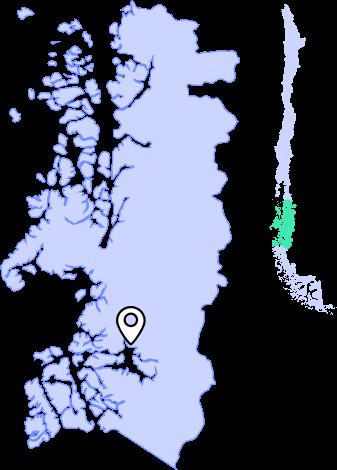 mapa caleta tortel