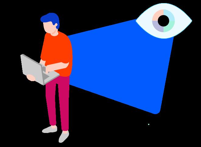 persona protegiendo sus datos personales en el computador