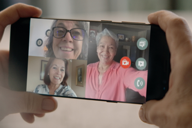videollamada de personas mayores